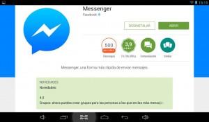 Messenger Facebook movil