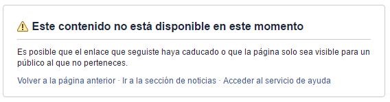 Me bloquean en Facebook
