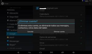 Eliminar cuenta Gmail en Android