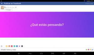 fondo de colores en Facebook